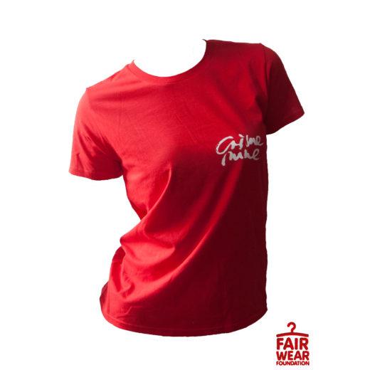 CN Script & Logo Backprint Shirt - Rot