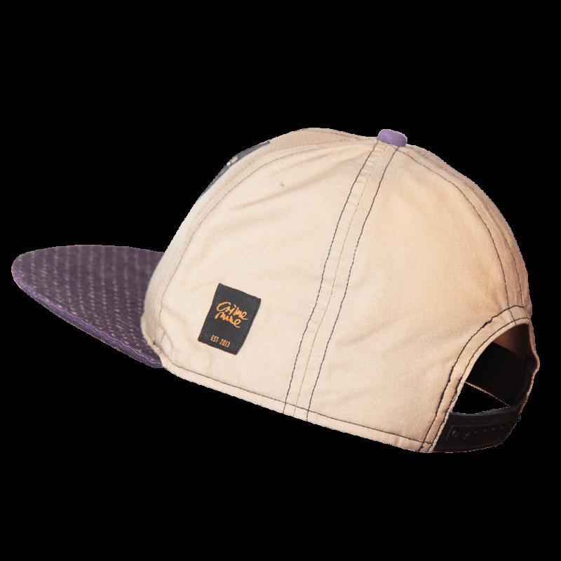 "Basecap ""Label"" Logo - Beige & Violett"